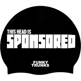 Funky Trunks Silicone Swimming Cap sponsored head